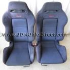 JDM 94-01 Integra DC2 Type R Front Recaro Seat Set - Black