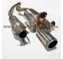 JDM DC5 Mugen Twin Loop Sports Cat Back Exhaust