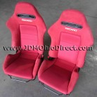 JDM DC5 Integra Type R Front Red Recaro Seats