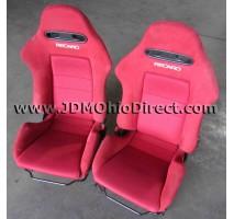 JDM DC5 Integra Type R Front Red Recaro Seats