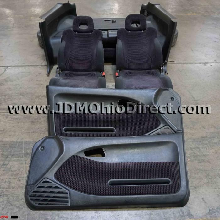 Civic Sedan Interior: JDM EG6 Civic SiR-S Checkered Black Interior Conversion