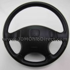 JDM EK3 Civic ViRS Black Leather Steering Wheel