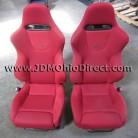 JDM EP3 Civic Type R Front Red Recaro Seats