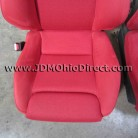 JDM EP3 Civic Type R Front Red Recaro Seats