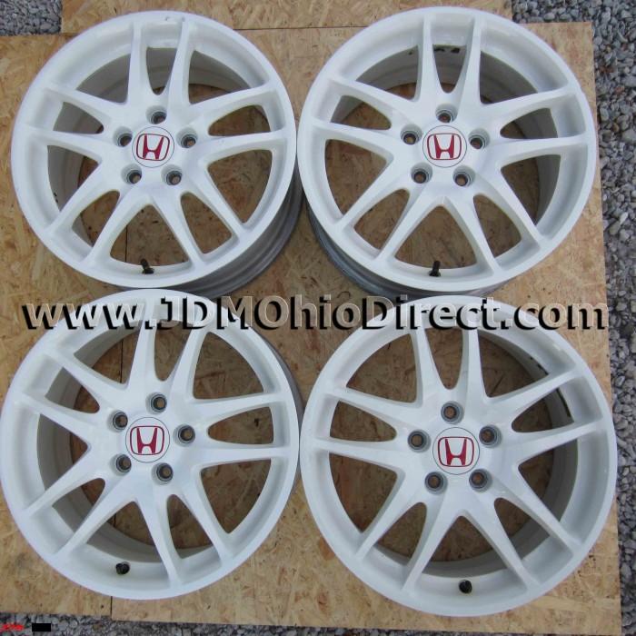 jdm dc5 integra type r white wheels 5 lug 5x114 3 jdm dc5 integra type r white wheels 5