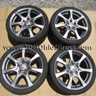JDM FD2 Civic Type R Silver Wheels 5 Lug 5x114.3