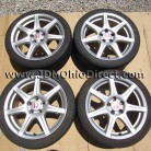 JDM FN2 Civic Type R Silver Wheels 5 Lug 5x114.3