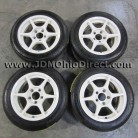 JDM Buddy Club P1 White 15 inch Wheels 5x114.3