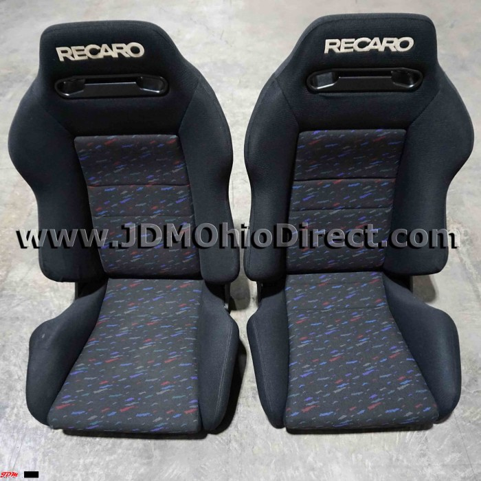 jdm sr3 recaro le mans confetti seat set. Black Bedroom Furniture Sets. Home Design Ideas