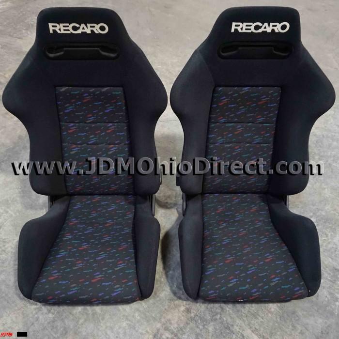 jdm sr2 recaro le mans confetti seat set. Black Bedroom Furniture Sets. Home Design Ideas