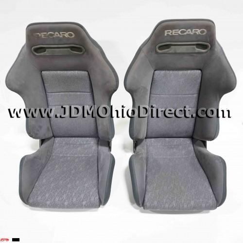 JDM SR2 Recaro Gray Suede Seat Set