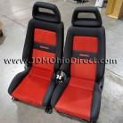 JDM Recaro LX Series Red and Black Seat Set